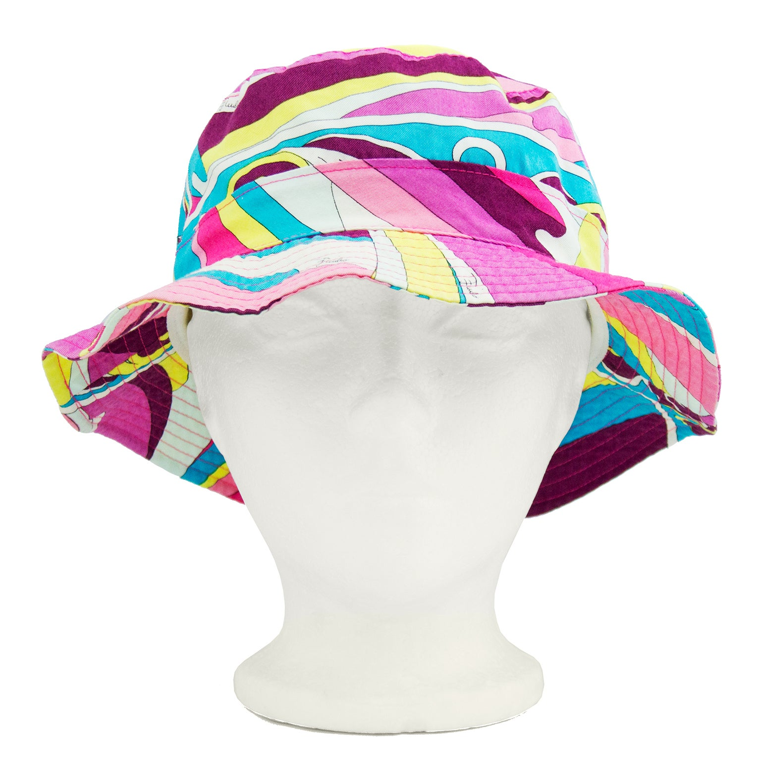 21ae55a1549 Early 2000s Emilio Pucci Pink and Blue Bucket Hat For Sale at 1stdibs