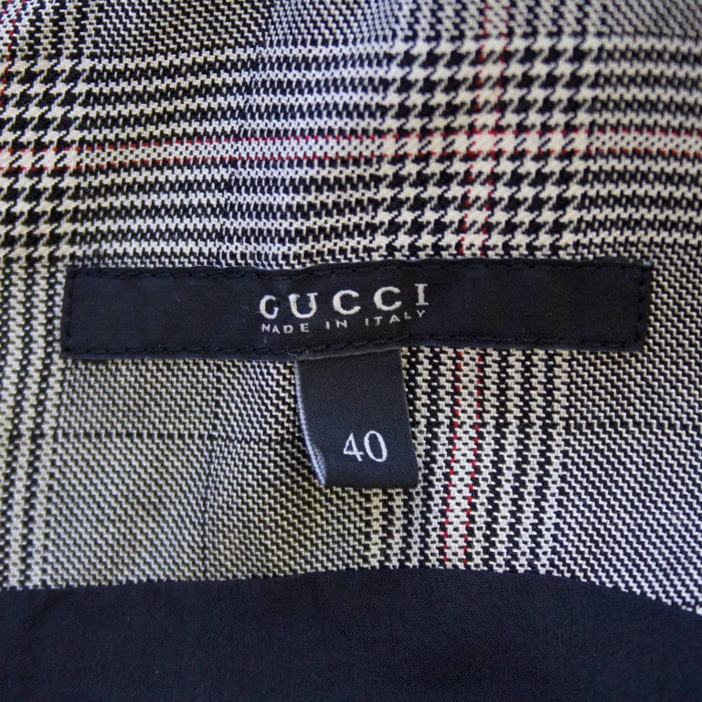 1990s Gucci Plaid Mini Dress For Sale 1
