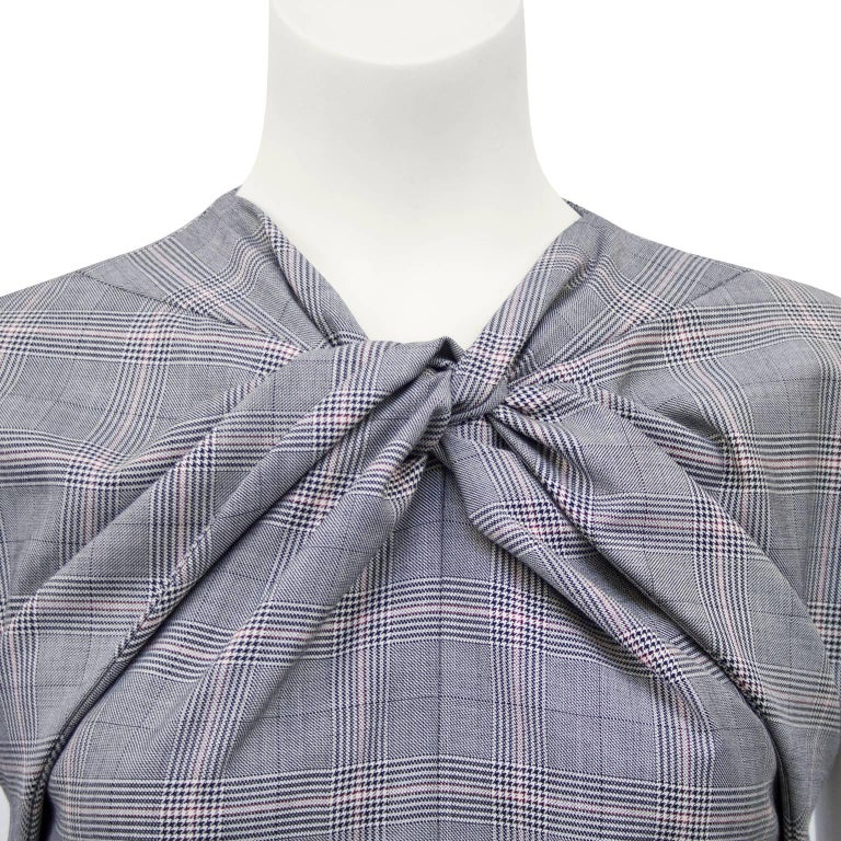 1990s Gucci Plaid Mini Dress In Excellent Condition For Sale In Toronto, Ontario