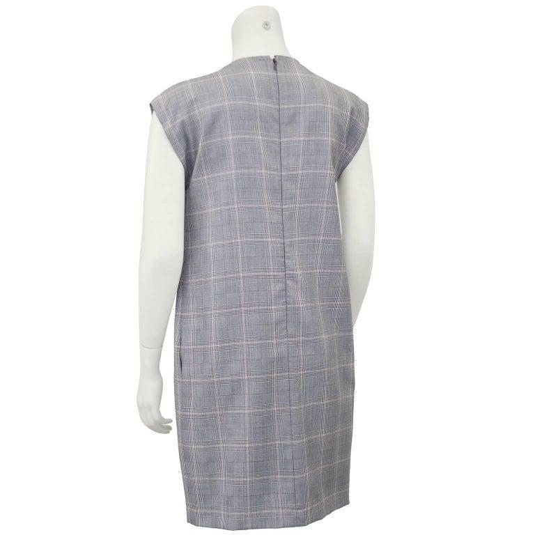 Gray 1990s Gucci Plaid Mini Dress For Sale