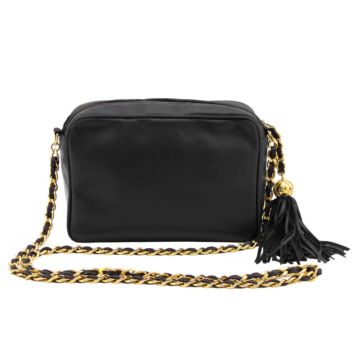 c6d5e164199a8c Chanel Black Lambskin Leather Triple CC Logo Camera Bag at 1stdibs