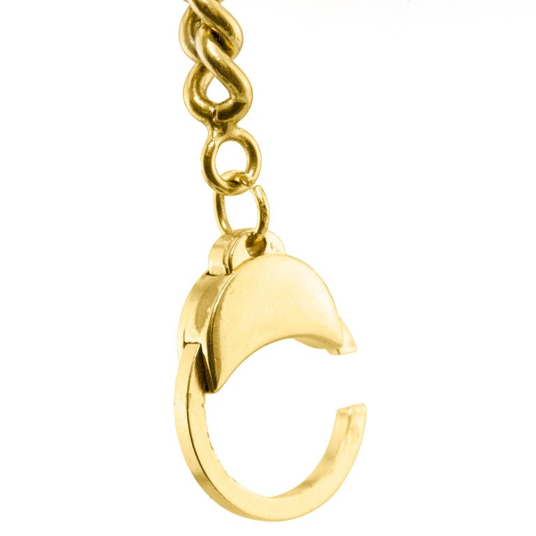 Women's or Men's 1984 Chanel Rue Cambon Stamped Coin Keychain For Sale