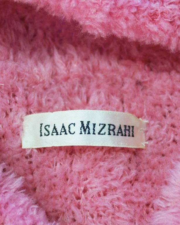 1990's Isaac Mizrahi Pink Long Turtleneck Tunic For Sale 2