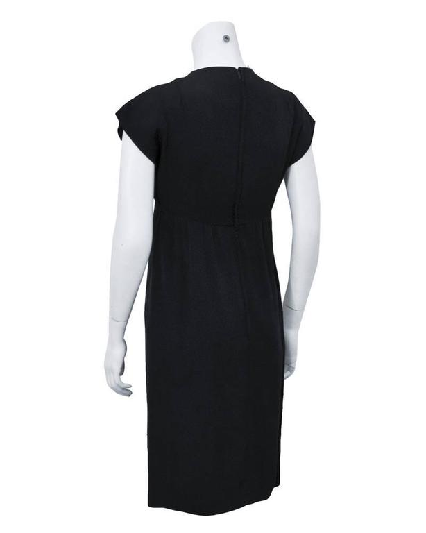 1960's Geoffrey Beene Black Silk Cocktail Dress  In Excellent Condition For Sale In Toronto, Ontario