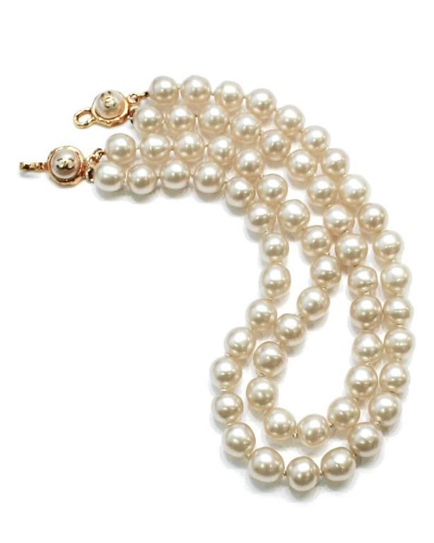 Earl 1980's Chanel Double Strand Pearl Necklace 2