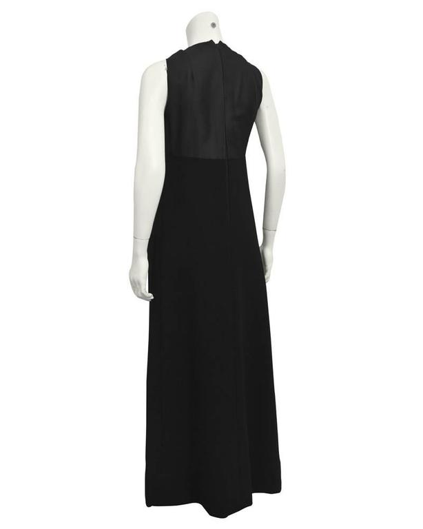 1960's Geoffrey Beene Black Wool Gown with Large Bow  3