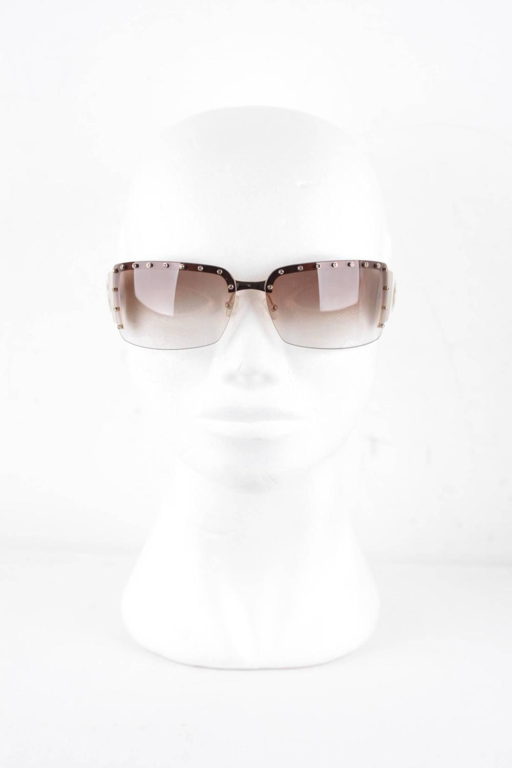 Rimless Glasses With Rhinestones : GIANFRANCO FERRE Rimless SUNGLASSES GF81301 71/14 Shades w ...