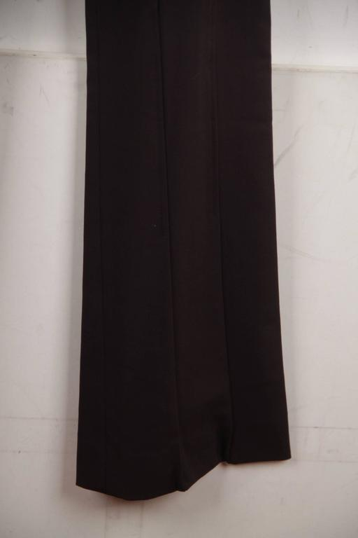 VERSACE Brown Stretch Wool TROUSERS Pants MEDUSA 2005 Fall Collection Sz 40 IT 4