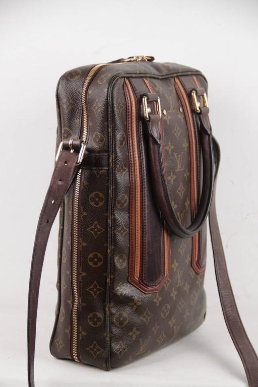 02256444120a Black LOUIS VUITTON Brown Monogram Canvas BEQUIA Vertical Bag TOTE Handbag  w  Strap For Sale