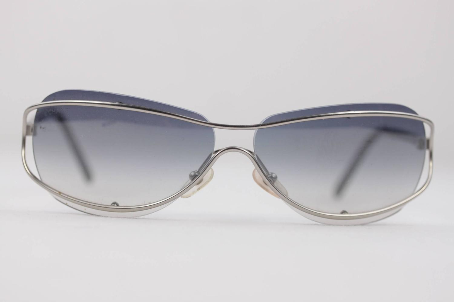 CHANEL Sunglasses 4027 145/55 RIMLESS FRAME Gradient ...
