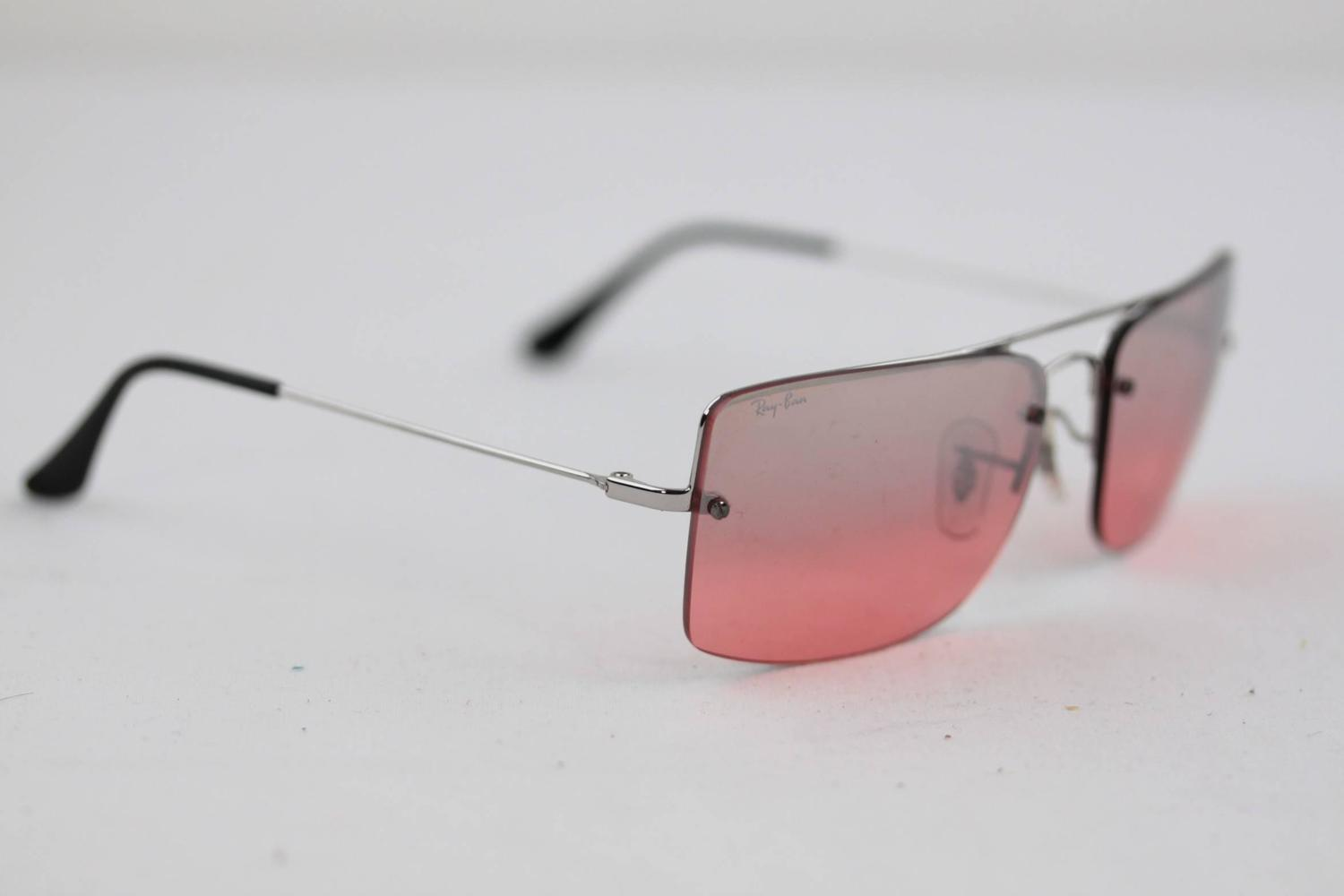 Pink Rimless Glasses : RAY BAN Sunglasses RB3158 003/7E 59/16 Rimless Silver/Pink ...