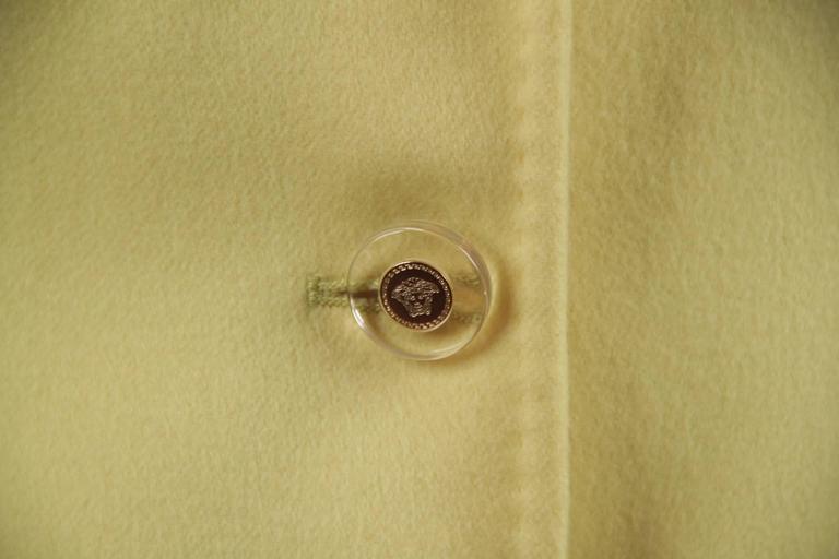VERSACE Bright Yellow Cashmere Blend BLAZER Jacket SIZE 40 5