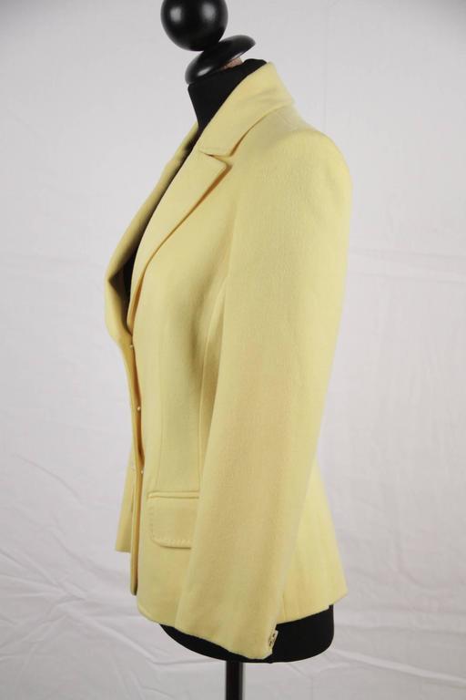 VERSACE Bright Yellow Cashmere Blend BLAZER Jacket SIZE 40 3