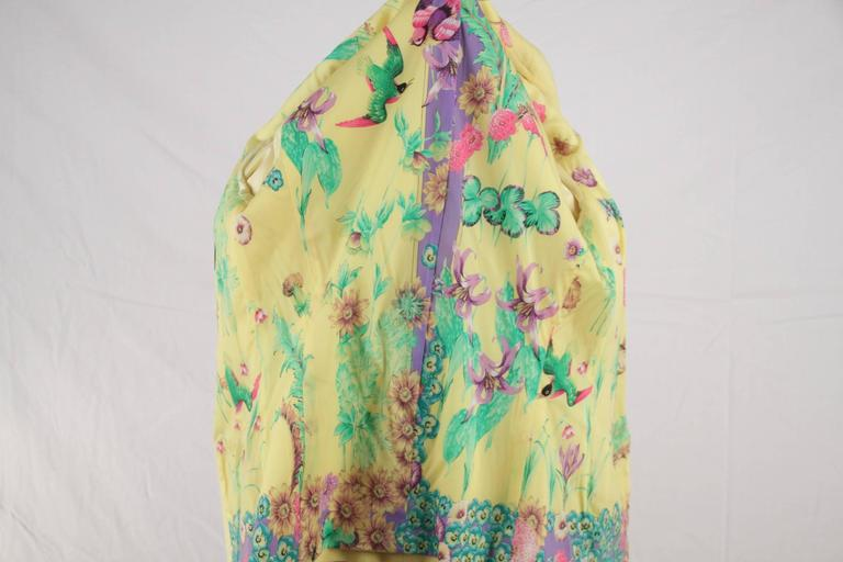 VERSACE Bright Yellow Cashmere Blend BLAZER Jacket SIZE 40 8