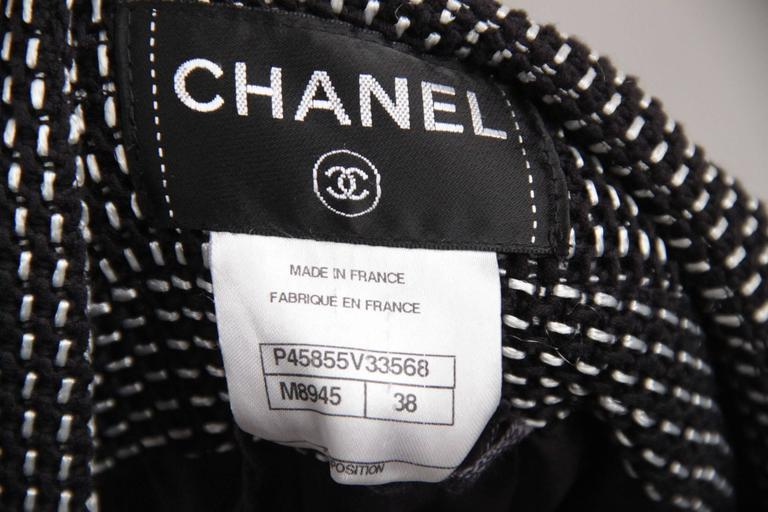 CHANEL Black & White Cotton Blend SHEATH DRESS Sleeveless SIZE 38 9