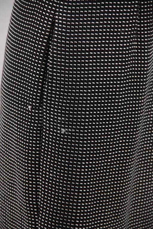 CHANEL Black & White Cotton Blend SHEATH DRESS Sleeveless SIZE 38 6