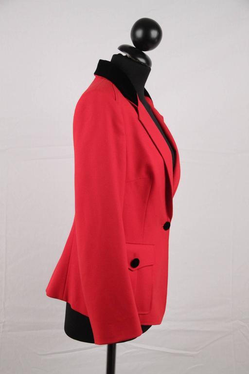 BALENCIAGA Red Wool BLAZER Jacket EQUESTRIAN Style SIZE 38 3