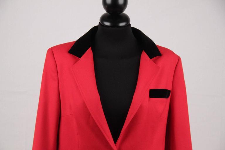 BALENCIAGA Red Wool BLAZER Jacket EQUESTRIAN Style SIZE 38 2