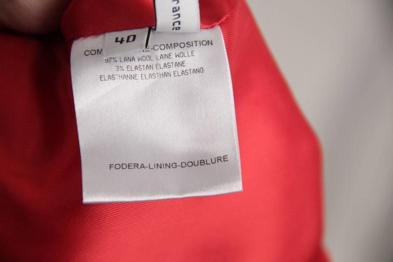 BALENCIAGA Red Wool BLAZER Jacket EQUESTRIAN Style SIZE 38 5