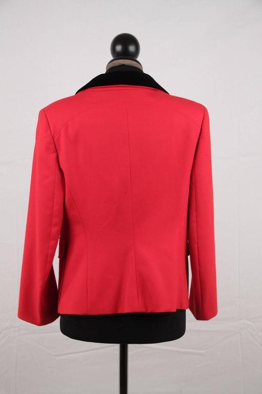 BALENCIAGA Red Wool BLAZER Jacket EQUESTRIAN Style SIZE 38 6