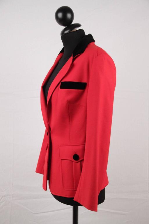 BALENCIAGA Red Wool BLAZER Jacket EQUESTRIAN Style SIZE 38 7