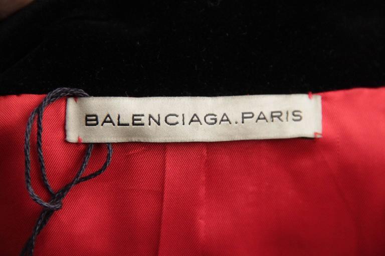 BALENCIAGA Red Wool BLAZER Jacket EQUESTRIAN Style SIZE 38 8