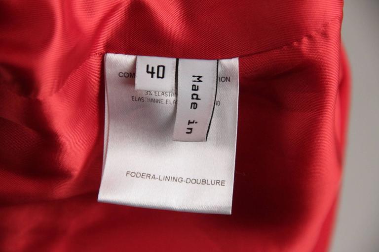 BALENCIAGA Red Wool BLAZER Jacket EQUESTRIAN Style SIZE 38 9
