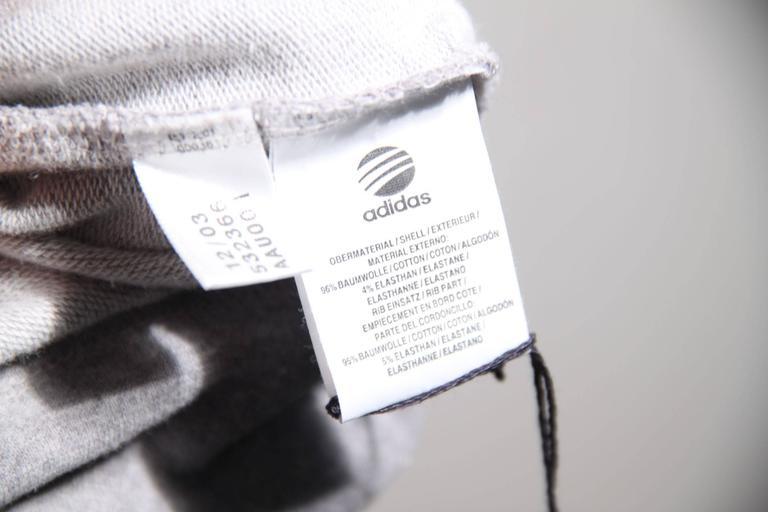 Y-3 YOHJI YAMAMOTO Gray Cotton CROPPED SLEEVE SWEATSHIRT Sz XS For Sale 3