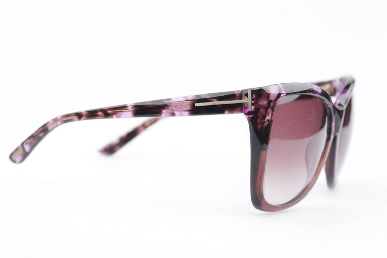 TOM FORD Eyewear CARLI TF 295 55Z 57/16 Oversized Butterfly SUNGLASSES Boxed 3