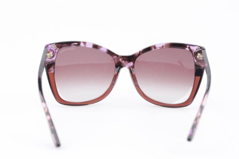TOM FORD Eyewear CARLI TF 295 55Z 57/16 Oversized Butterfly SUNGLASSES Boxed 5