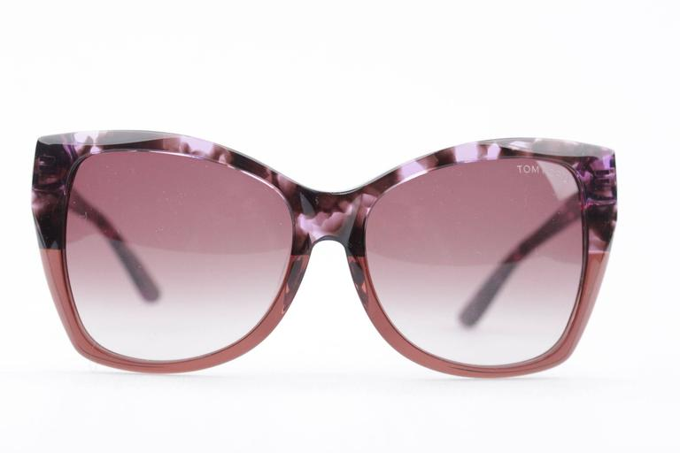TOM FORD Eyewear CARLI TF 295 55Z 57/16 Oversized Butterfly SUNGLASSES Boxed 2