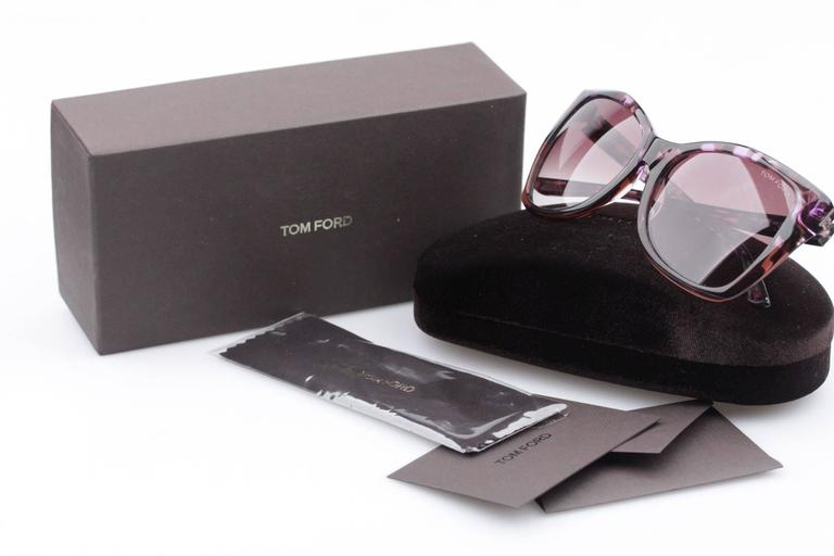TOM FORD Eyewear CARLI TF 295 55Z 57/16 Oversized Butterfly SUNGLASSES Boxed 10