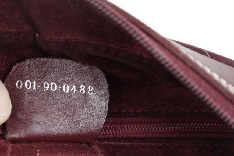 Gucci Belt Serial Number >> GUCCI Vintage Leather MESSENGER Purse SHOULDER BAG w/ Plaid WOOL Panel For Sale at 1stdibs