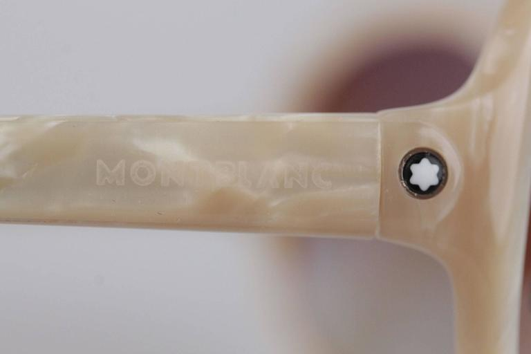 MONTBLANC Ivory MB 138S T58 SUNGLASSES 59/18 125 Gradient Lens EYEWEAR In New never worn Condition For Sale In Rome, IT