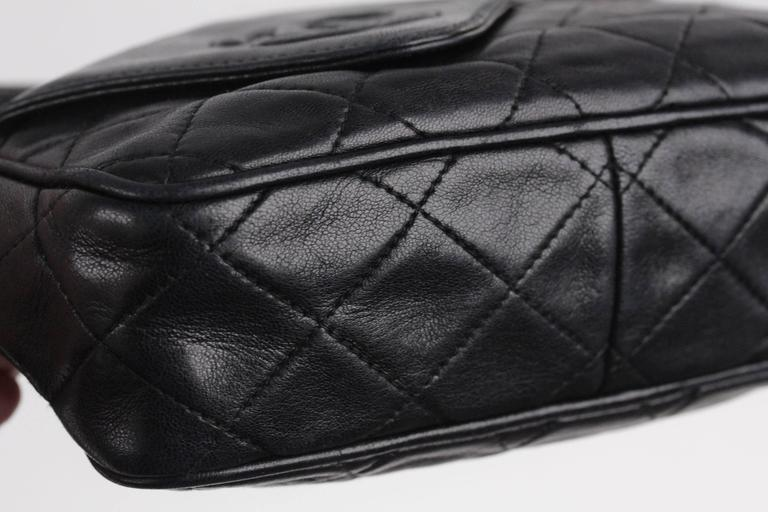 f970be5c7da0 CHANEL Vintage Black QUILTED Leather CAMERA BAG Fold Detail CROSSBODY Tassel  For Sale 1