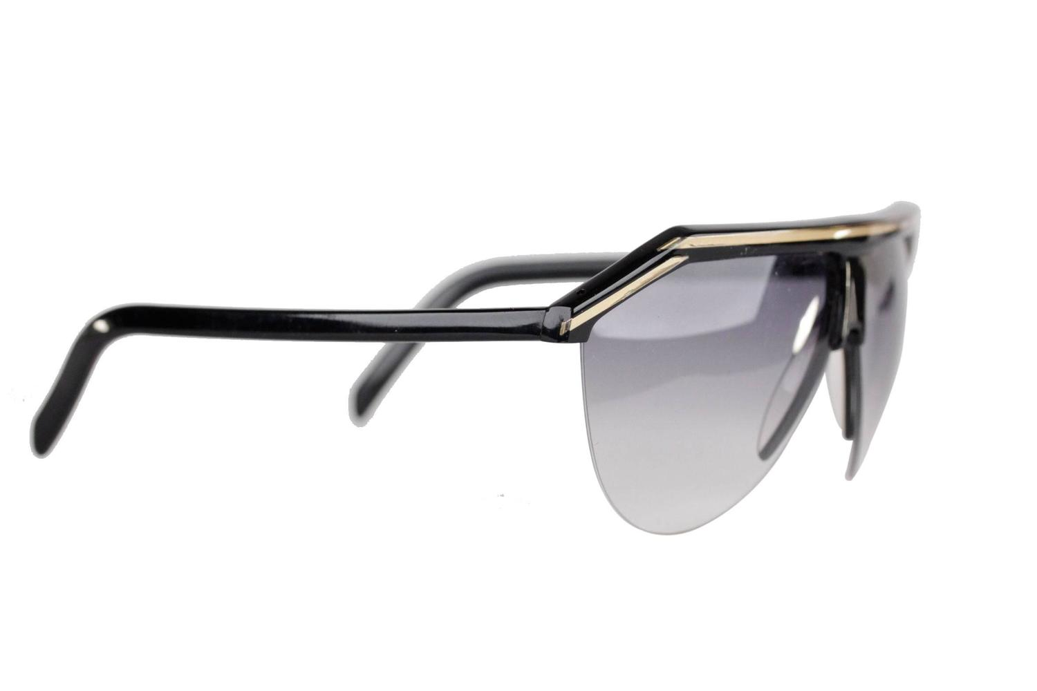 0938c1803fd9 Cartier Half Rim Sunglasses Black Gold