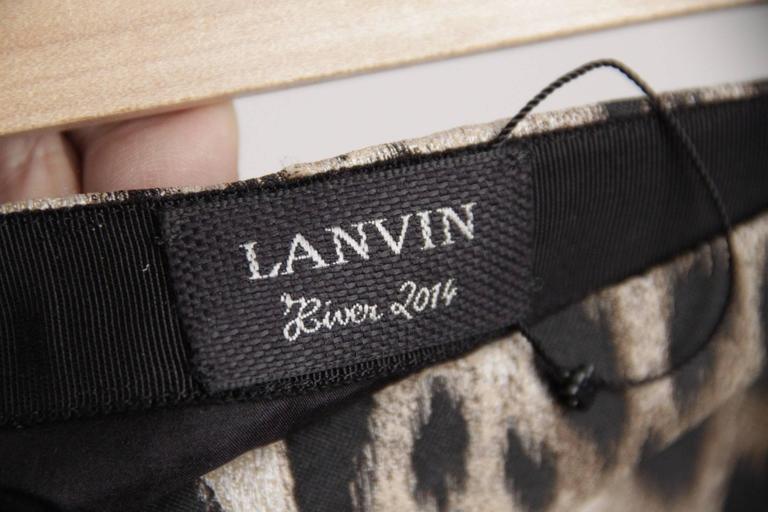 LANVIN Leopard Silk Blend SKIRT Hiver WINTER 2004 Size 38 3