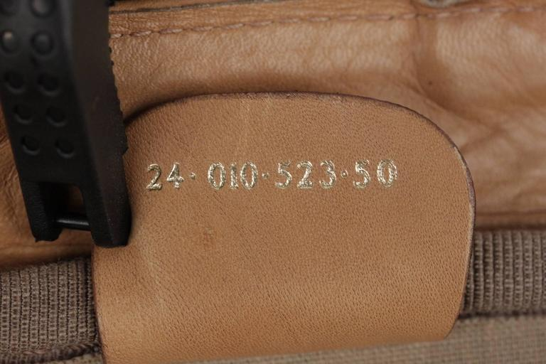 GUCCI VINTAGE Tan GG MONOGRAM Canvas CABIN SIZE SUITCASE Travel Bag For Sale 5