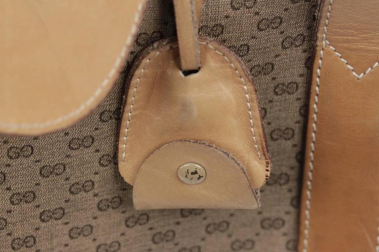 GUCCI VINTAGE Tan GG MONOGRAM Canvas CABIN SIZE SUITCASE Travel Bag For Sale 1