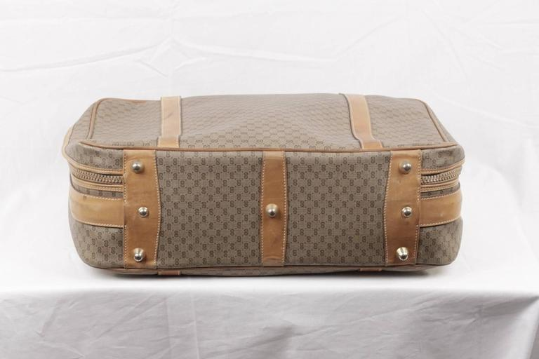 GUCCI VINTAGE Tan GG MONOGRAM Canvas CABIN SIZE SUITCASE Travel Bag For Sale 3