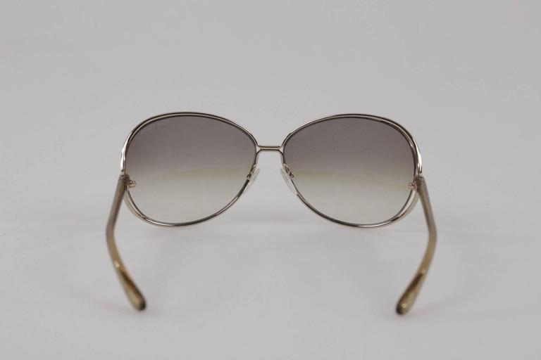 Women's TOM FORD SUNGLASSES mod. CLEMENCE TF 158 28F 65/13 Round MINT Eyewear For Sale