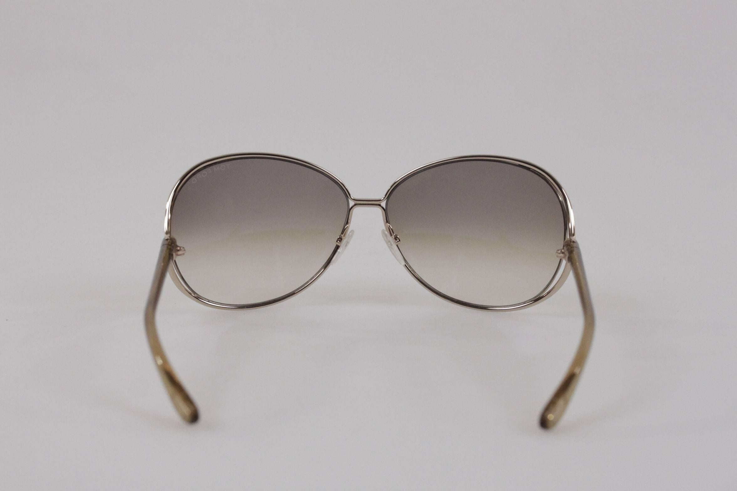 a164a39c22 TOM FORD SUNGLASSES mod. CLEMENCE TF 158 28F 65 13 Round MINT Eyewear For  Sale at 1stdibs
