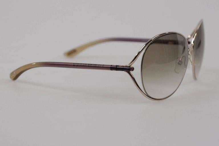 2a77d1c53f788 Gray TOM FORD SUNGLASSES mod. CLEMENCE TF 158 28F 65 13 Round MINT Eyewear