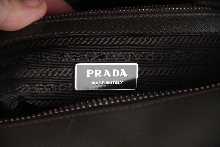 9203dd8a5 PRADA Military Green SAFFIANO Leather ZIP TOP BRIEFCASE Work Bag For Sale 2