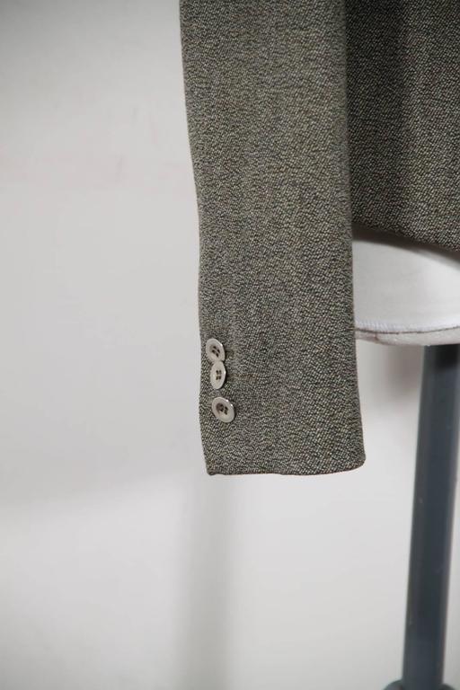 Women's BALENCIAGA Gray Fleece Wool BLAZER Jacket Sz 38 IT For Sale