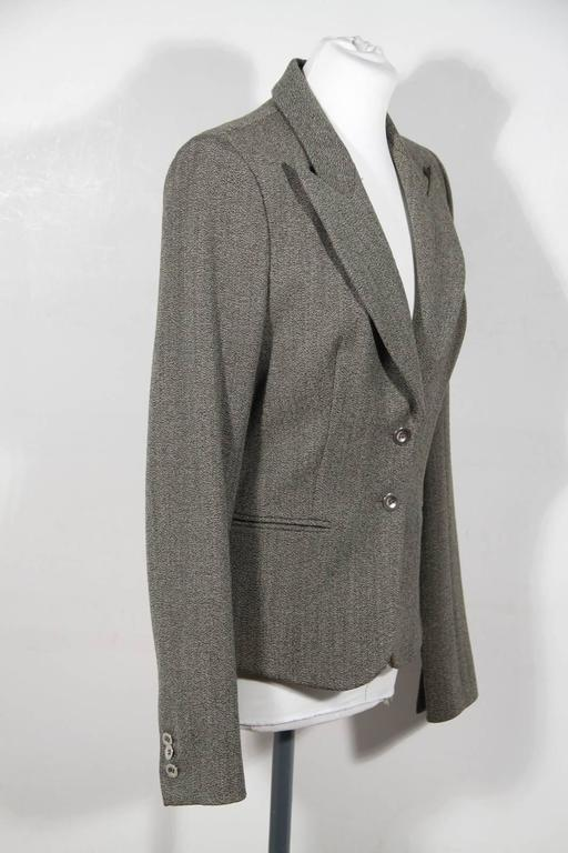 BALENCIAGA Gray Fleece Wool BLAZER Jacket Sz 38 IT For Sale 1