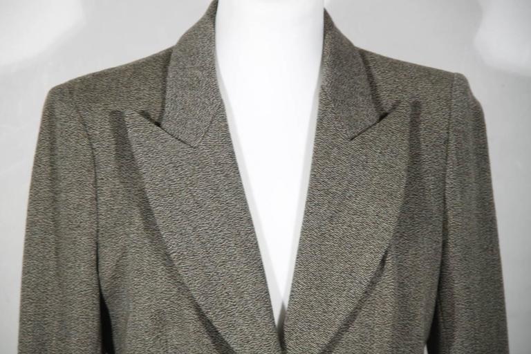 BALENCIAGA Gray Fleece Wool BLAZER Jacket Sz 38 IT 2