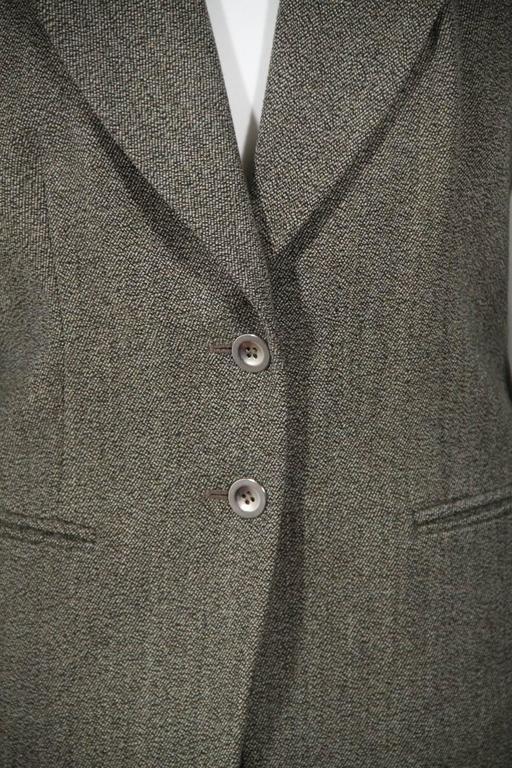 BALENCIAGA Gray Fleece Wool BLAZER Jacket Sz 38 IT 3
