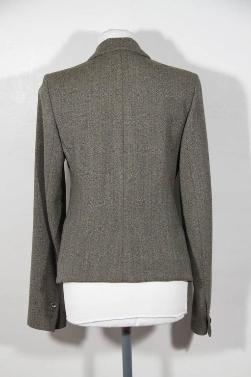 BALENCIAGA Gray Fleece Wool BLAZER Jacket Sz 38 IT For Sale 2