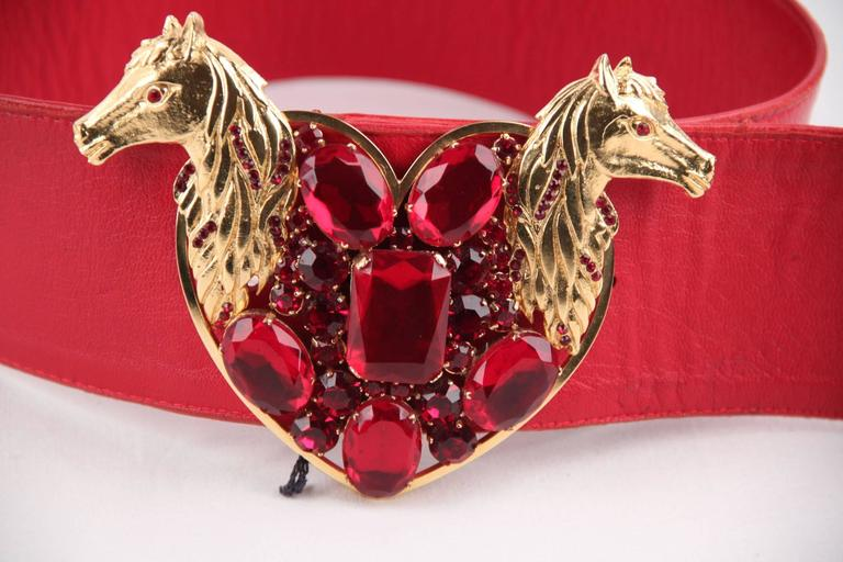 - Crafted with red leather